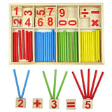 Children's Montessori Counting Sticks - Learn Math and Colors