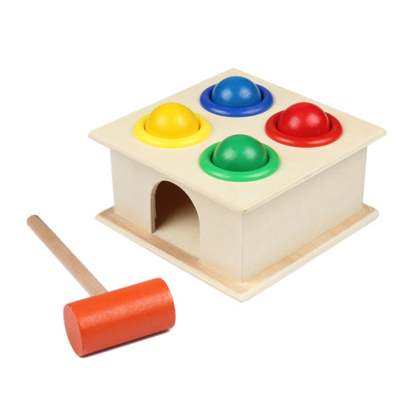 Baby Colorful Ball & Hammer Set - Have Fun Learning Shapes and Colors