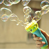Electric Bubble Machine - Automatic Handheld Bubble Gun Blows Lots of Bubbles