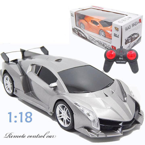 Children's Luxury Remote Control Sports Car - 1:18 Scale 4 Channel RC 10km/hr Racing Car