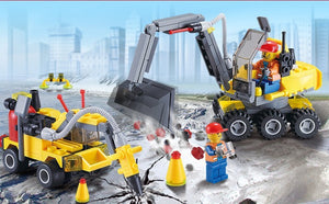 Construction Excavator Building Blocks - Instructions to Build Construction Equipment (196 pcs)
