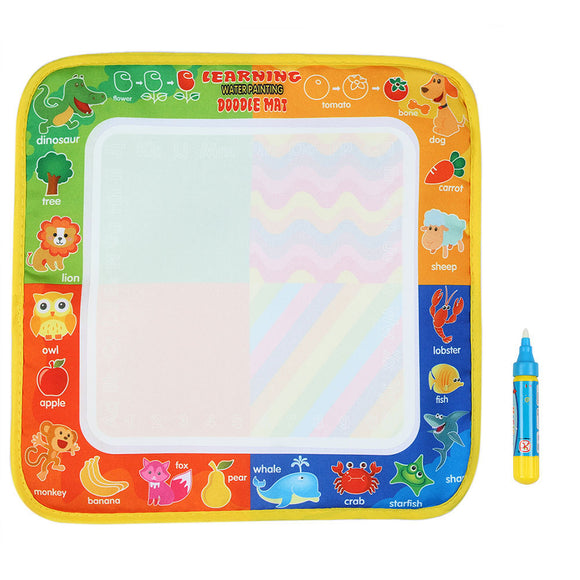 Small Drawing Mat with Magic Pen (Disappearing Ink) - Non-Toxic Just Add Water (29*30cm)