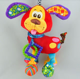 Colorful Infant Animal Plush Toy with Soft Rattles and Bell - Perfect for Cribs and Strollers