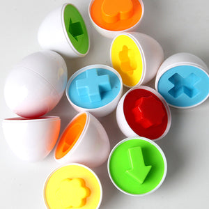Children's Egg Shaped Educational Toys - Learn to Match Shapes and Colors (6 pcs)