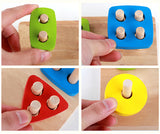 Children's Montessori Colorful Geometric Shapes - Learn Colors and Sorting by Shape