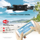 Eachine E55 Mini WiFi FPV Foldable Pocketable Drone With High Hold Mode RC Quadcopter RTF