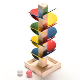 Children's Montessori Educational Wooden Tree Game - Marble Ball Runs Down the Track