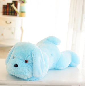 Colorful Plush Dog Pillows with LED Light - 50cm (1 pc)