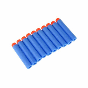 100pcs Soft Hollow 7.2cm Refill Foam Bullets for Toy Dart Gun (7 Colors)