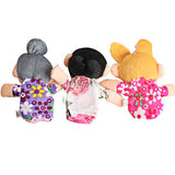 Family of Finger Puppets - Plush Cloth for Children (6 pcs)