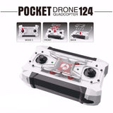 FQ777-124 Mini Pocket Drone 4CH 6-Axis Gyro Switchable Controller RC Helicopter RTF Quadcopter Mini