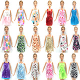 Barbie/Fashion Doll Accessories - 10 Beautiful Dresses + 6 Elegant Necklaces + 10 pairs of Fashionable Shoes (36 pcs)