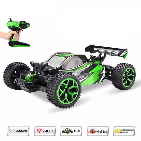 Remote Control High Speed 4WD Race Car - 1:18 Scale 2.4Ghz RC 20km/hr Racing Car