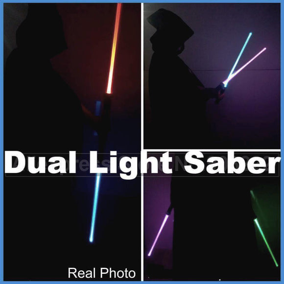 Double Lightsaber Costume Prop Toy Sword - Fun Light Saber with Colorful Lights and Sounds (2 Pcs)