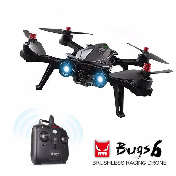 Bugs 6 Professional Quadcopter Optional Camera HD 720P 5.8G FPV Brushless Motor Racing Drone & VR Goggles 300m 50KM/H High Speed RTF