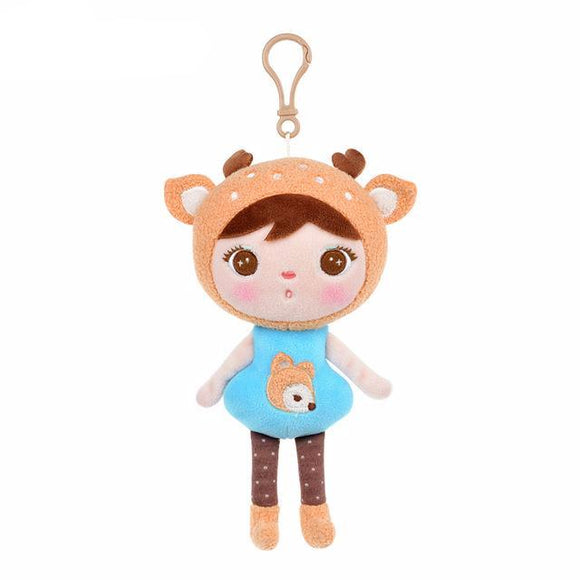 Cute Plush Stuffed Doll with Clip to Attach to Backpacks, Cribs, Strollers and More - 5 styles 22cm (1 pc)