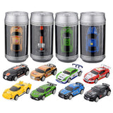 Mini Remote Control Racing Car - Coke Can RC Car with 4 Frequencies (8 Styles)
