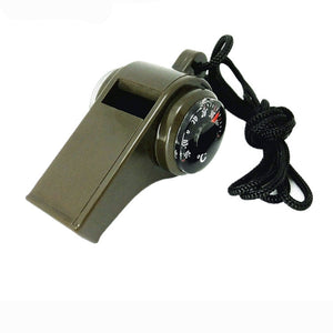 Three-in-one whistle compass thermometer whistle