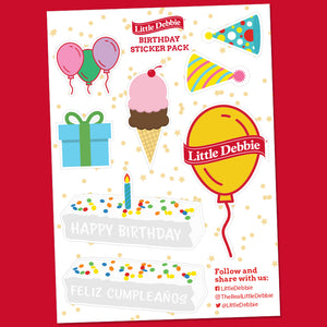 Little Debbie® Birthday Sticker Sheet