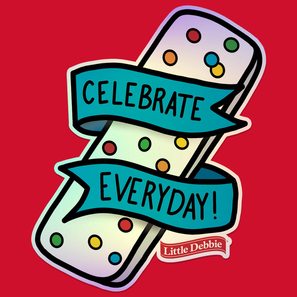 Little Debbie® Celebrate Everyday Holographic Sticker