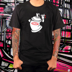 CANVANDAL BLACK TEE - MENS