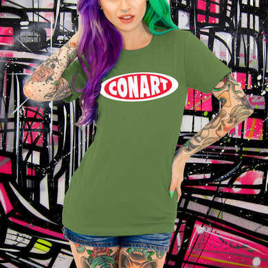 CONART OLIVE TEE - WOMENS