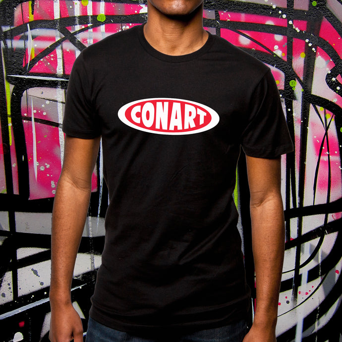 CONART BLACK TEE - MENS