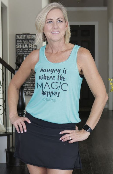 Hungry is where the MAGIC happens!  Bella Flowy Racerback Tank