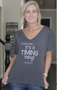 It's not a diet...It's a TIMING thing!  Bella Slouchy V-Neck T-shirt