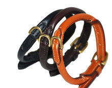 Pear Tannery Fine Rolled Leather Dog Collar