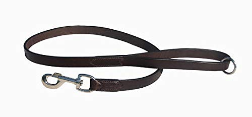 Pear Tannery Flat Leather Dog Lead 3/4