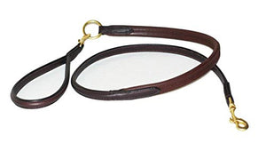 Pear Tannery Rubber Grip Leather Dog Lead 5/8""