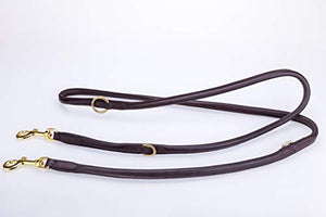Pear Tannery Adjustable Training Rolled Leather Dog lead