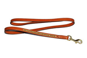 Pear Tannery Clincher Leather Dog Lead 5/8""