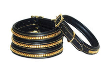 Pear Tannery Brass Clincher Leather Dog Collar