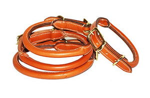 Pear Tannery Rolled Leather Dog Collar