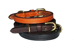 Pear Tannery Fine Flat Leather Dog Collar
