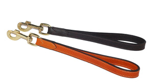 Pear Tannery Luxurious Leather Short Dog Lead 1/2""