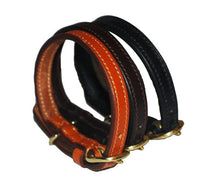 Pear Tannery Flat Leather Dog Collar