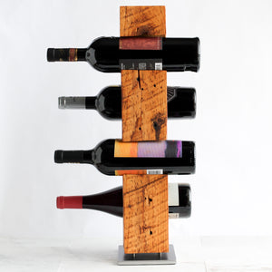 Tabletop Wine Rack from Reclaimed Late-1800s Vermont Barn Wood