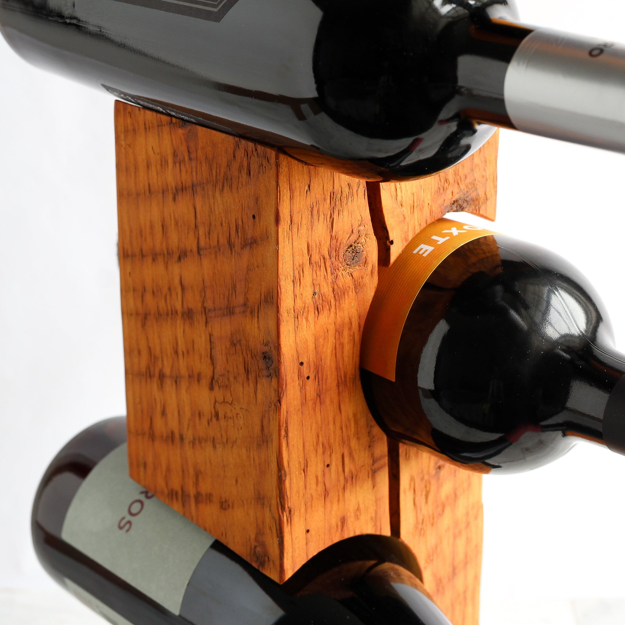 Custom Tabletop Wine Rack from Reclaimed Late-1800s Vermont Barn Wood