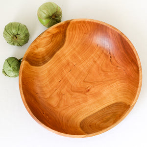 Cherry Wood Fruit & Vegetable Bowl