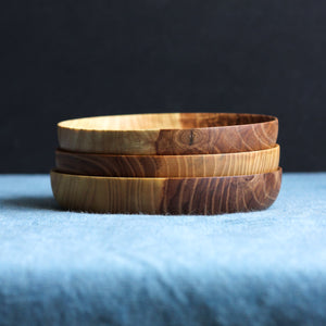 Trio of Figured Ash Bread Plates