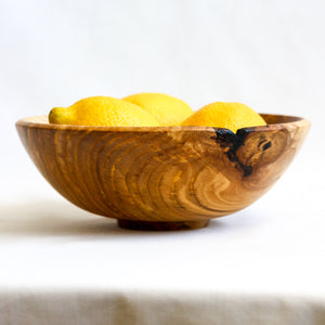 Small Olive Ash Bowl with Knot Inclusion and Figuring