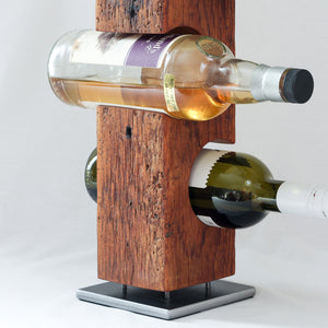 Custom Tabletop Wine Rack from Reclaimed Mid-1800s Vermont Barn Wood (#1009)