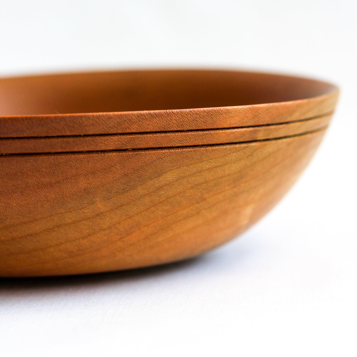 Small Cherry Bowl with Grooved Rim