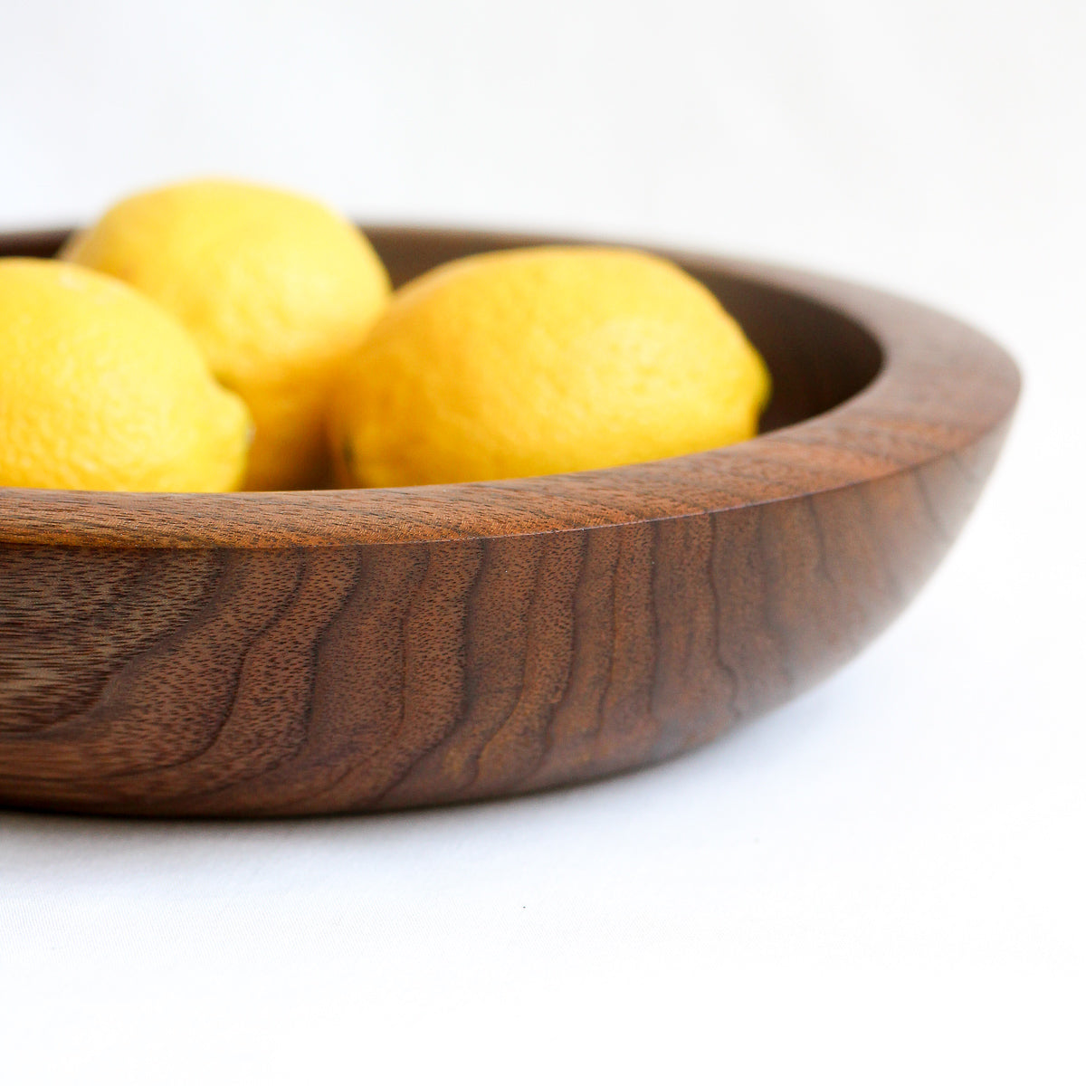 Black Walnut Fruit Bowl with Undercut Rim