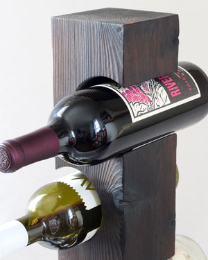 Shou-Sugi-Ban Tabletop Wine Rack