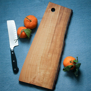 Natural Edge Cherry Cutting Board with Bark