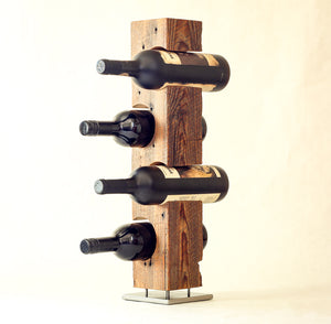 Wine Rack from Reclaimed Mid-1800s Vermont Barn Wood (#1001)